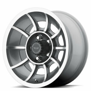 American Racing Vn47 Vector 15x8 5 Custom Et6 Anthracite Machined qty Of 4