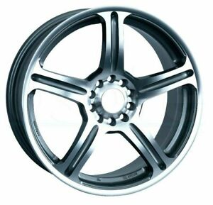 17x7 Silver Machined Wheels Xxr Primax 772 5x100 5x114 3 38 set Of 4
