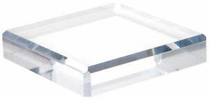 Plymor Clear Polished Acrylic Square Beveled Display Base 1 H X 5 W X 5 D