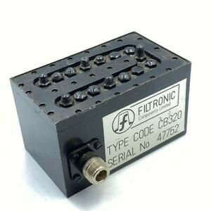 655 740mhz Uhf Band Pass Filter Filtronic Cb320 N Type