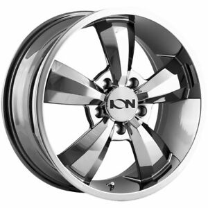 18x8 Pvd Wheels Ion 102 5x130 50 Set Of 4