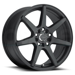 17x7 5 Black Wheels Raceline 131b Evo 5x108 5x114 3 40 Set Of 4