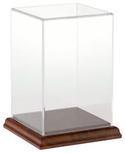 Plymor Clear Acrylic Display Case With Hardwood Base 4 W X 4 D X 6 H