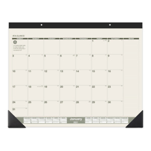 At a glance Monthly Desk Pad Calendar 22 X 17 100 Recycled Sk32g0021
