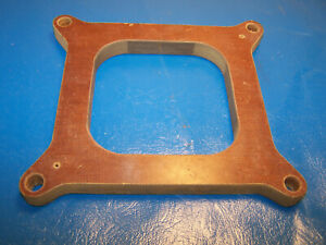 Canton 1 2 Carb Spacer Open For 4150 Holley Carburetor Phenolic 500 Inch Used