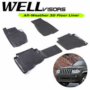 All Weather Floor Mats For Jeep 05 10 Grand Cherokee Wellvisors 3 864je010