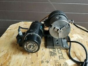 Harig ab 5c Collet Motorized Spin Indexer 4 Chuck Milling Grinding Machining