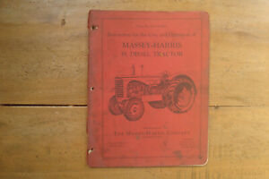 1953 Massey harris 55 Diesel Tractor Instruction For The Care Operation Manual