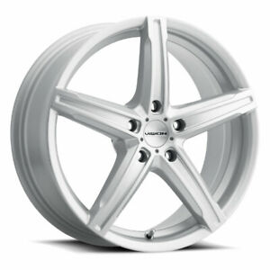 16x7 Silver Wheels Vision 469 Boost 5x100 38 set Of 4