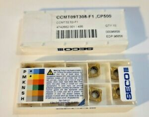 Ccmt 32 52 F1 Cp500 Seco 10 Inserts Factory Pack