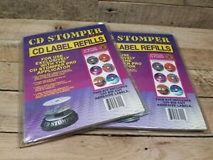 Cd Stomper Pro Cd Label Refills almost 200 Die cut Adhesive Labels