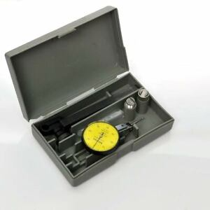 Mitutoyo 513 404 Dial Indicator 0 0 8mm X 0 01mm With Mount Case Accessories
