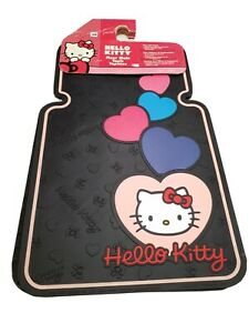 001293r01 Plasticolor Hello Kitty Sweetheart Floor Mats Qty 2 Pieces