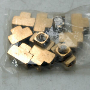 Lot Of 10 New 3 8 Service Line Tee Fittings Brass Female