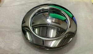 9 Hole Steering Wheel Horn Button Chrome Aluminum Smooth Street Rod Scratched
