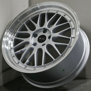19x9 5 Silver Wheels Vors Vr8 5x112 35 set Of 4 73 1