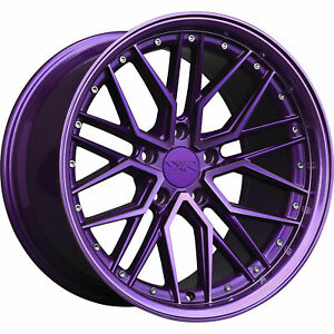 18x8 5 Diamond Cut Purple Wheels Xxr 571 5x112 35 Set Of 4