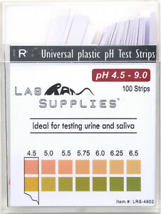 Plastic Ph Test Strips Universal Application ph 4 5 9 0 0 25 Interval 100pcs