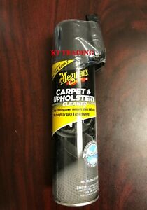 Meguiar S Car Auto Interior Carpet Upholstery Fabric Cleaner 19oz Spray Brush