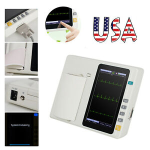 Us 7 12 lead Digital 3channel Electrocardiograph Ecg ekg Machine Interpretation