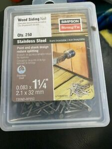 Simpson Strong tie Wood Siding Nail 1 1 4 250ct Stainless Steel New