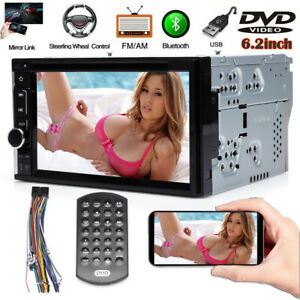 For Toyota Corolla Camry 6 2 2 Din Stereo Car Dvd Radio Touch Screen Bluetooth