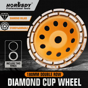7 Inch Grinding Wheel Double Row Diamond Cup Angle Grinder 28 Seg Concrete Tile