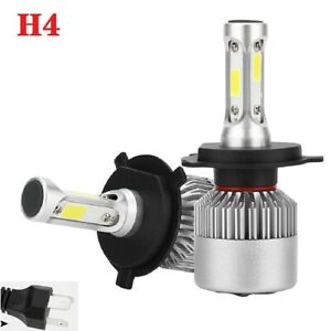 1pair 100w 20000lm H4 Hb2 9003 Led Headlight High Low Beam Bulbs 6000k White