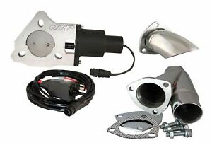 Qtp Qtec225cpk1 2 25 Electric Exhaust Cutout 3 Bolt Flange Y Pipe Turn Down