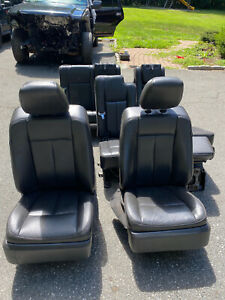 09 14 Ford Expedition Black Heated Cooled Memory Front Power Rear Seat Set