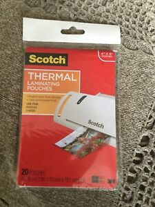 Scotch Thermal Laminating Pouches 20 pkg 4 X 6 New