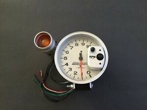 Autometer 233912 510k Silver Tach With Shift Lite