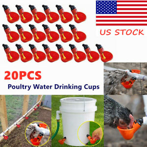 20pcs Automatic Poultry Water Drinking Cups Chicken Quail Water Bowl Drinker