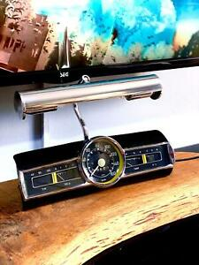 Handmade Office Home Decoration Table Lamp Mercedes Ponton Speedometer Gauge