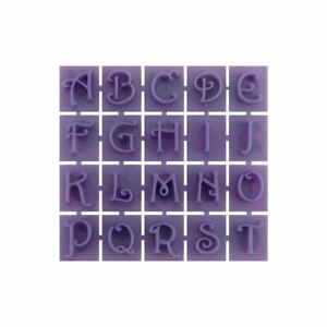 Concrete Stone Stamp Set letters Numbers Victorian
