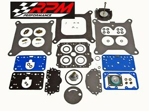 Holley Marine 4 Barrel 4160 Carburetor Carb 600 Cfm Rebuild Kit Vacuum Secondary