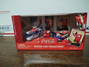 Coca-Cola Johnny Lightning 2003 1:64 Diecast Poster Car Collection In Box