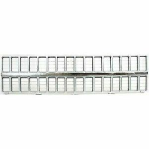 For 81 82 Chevrolet C10 Pickup New Front Grille Chrome Silver Gm1200121 14021348