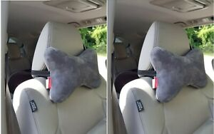 2 Pc Memory Foam Car Auto Seat Head Rest Support Pillow Neck Pain Relief Cushion