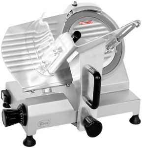 Commercial Meat Food Slicer Electric Deli Kitchen 10 Chrome plated Carbon Steel