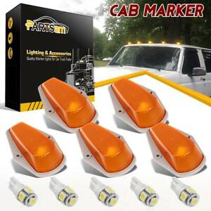 5x For Ford F150 Running Roof Top Cab Clearance Lights Amber 194 Led Lamp