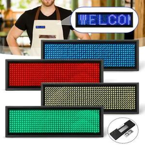 Mini Led Digital Name Message Tag Sign Programmable Scrolling Rechargeable dfn