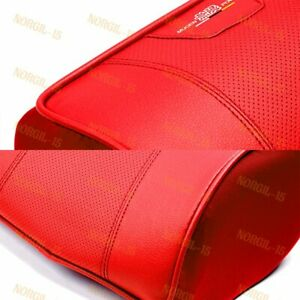 X2 Red Pu Leather Car Seat Memory Foam Neck Rest Cushion Pillow Mugen Power