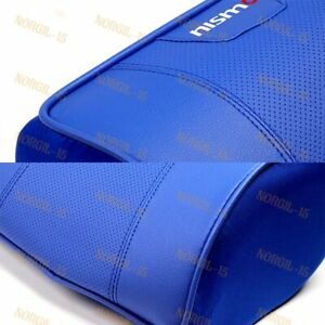 X2 Blue Leather Car Seat Memory Foam Neck Rest Cushion Pillow For Nissan Nismo