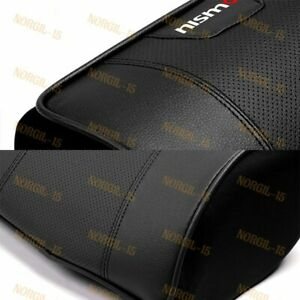 X2 Black Leather Car Seat Memory Foam Neck Rest Cushion Pillow For Nissan Nismo