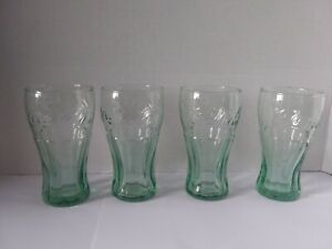 Vintage Coca-Cola Glass Miniature Drinking Cup Coke Green  4 1/2