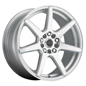 17x7 5 Silver Wheels Raceline 131s Evo 5x108 5x114 3 40 Set Of 4