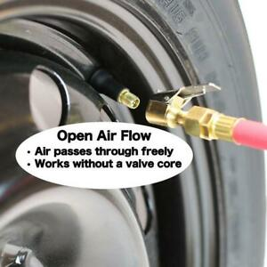 2pcs Metal Tire Inflator Open Flow Straight Lock On Air Chuck With Clip Df