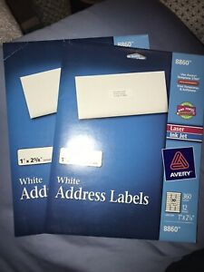 10 Packs Avery Address Labels 8860 1 Inch X 2 5 8 Inch 3600 Labels Total d
