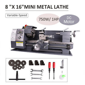 Mini Lathe Metal Machine 750w 8x16 Automatic Variable speed Woodworking Tooling